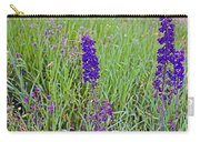 Purple Larkspur In A Meadow In Yellowstone National Park-wyoming Carry-all Pouch
