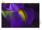 Purple Light Iris Macro Carry-all Pouch