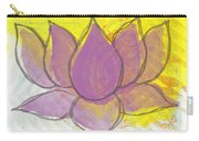 Purple Lotus Carry-all Pouch by Linda Woods