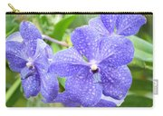 Purple Mokara Orchid Carry-all Pouch