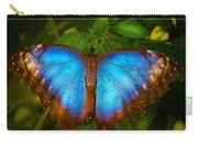 Purple Morpho Butterfly Carry-all Pouch