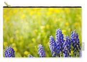 Blue Muscari Mill Bunches Of Grapes Close-up  Carry-all Pouch