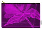 Purple Negative Wood Flower Carry-all Pouch