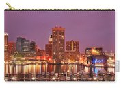 Purple Night In Baltimore Carry-all Pouch