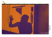 Purple Orange Figure Shadow Carry-all Pouch