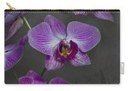 Purple Orchid Flower Carry-all Pouch