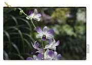 Purple Orchid Flower Inside The National Orchid Garden In Singapore Carry-all Pouch
