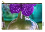 Purple Orchid In Vase Carry-all Pouch