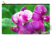 Purple Pansies Carry-all Pouch