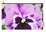 Purple Pansy Close Up - Digital Paint Carry-all Pouch