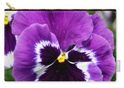 Purple Pansy Close Up Carry-all Pouch