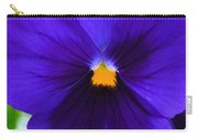 Purple Pansy Closeup Carry-all Pouch