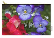 Purple Pansy Flowers By Line Gagne Carry-all Pouch