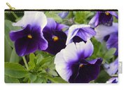 Purple Pansy Melody Carry-all Pouch