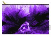 Purple Pansy Rising Carry-all Pouch