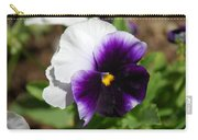 Purple Pansy Carry-all Pouch