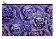 Purple Passion Rose Flower Abstract Carry-all Pouch