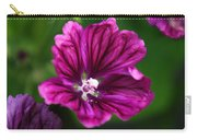 Purple Hollyhock Carry-all Pouch