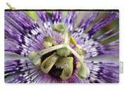 Purple Passion Flower Close Up  Carry-all Pouch