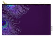 Purple Peacock Phone Case Carry-all Pouch