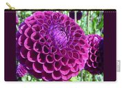 Purple Perfection Dahlia Flower Carry-all Pouch