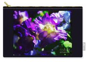 Purple Petunia Portrait Carry-all Pouch