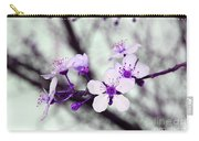 Purple Pink Blossoms Carry-all Pouch