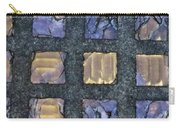 Purple Prism Glass In A Square Carry-all Pouch
