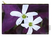 Purple Queen Flowers Carry-all Pouch by Sabrina L Ryan