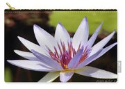 Purple Rhonda Kay Waterlily Above The Pond Carry-all Pouch