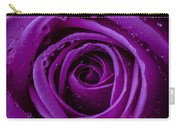 Purple Rose Close Up Carry-all Pouch