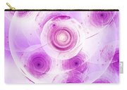 Purple Rosettes Carry-all Pouch
