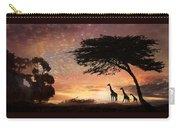 Purple Safari Sunset Carry-all Pouch