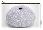 Purple Sea Urchin White Carry-all Pouch