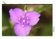 Purple Spiderwort Wildflower Carry-all Pouch