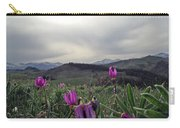 Purple Spring In The Big Horns Carry-all Pouch