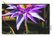Purple Star Water Lily  By Diana Sainz Carry-all Pouch