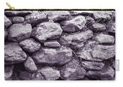 Purple Stone Wall Carry-all Pouch