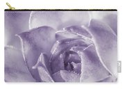 Purple Succulent Carry-all Pouch