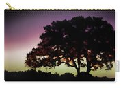 Purple Sunset Green Flash And Oak Tree Silhouette Carry-all Pouch