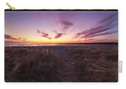Purple Sunset Sky At The Beach Carry-all Pouch