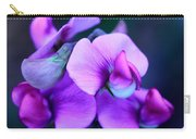 Purple Sweet Peas Carry-all Pouch