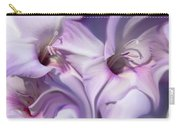 Purple Swirl Abstract Gladiolas  Carry-all Pouch by Jennie Marie Schell