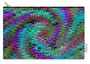 Purple Swirl Ripples Carry-all Pouch