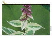 Purple Tipped Flower Carry-all Pouch