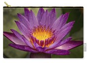Purple Tropical Water Lily Carry-all Pouch