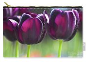 Purple Tulips Carry-all Pouch by Heiko Koehrer-Wagner