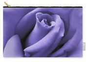 Purple Velvet Rose Flower Carry-all Pouch by Jennie Marie Schell