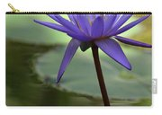Purple Water Lily In The Shade Carry-all Pouch