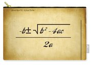 Quadratic Equation - Aged Carry-all Pouch